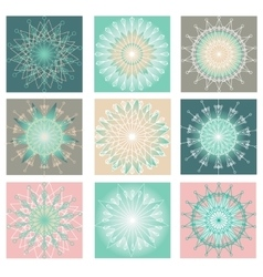 Decoration Set with Snowflakes vector image