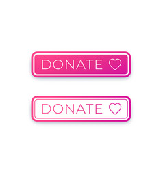 donate button design for website vector image