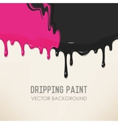 Dripping paint background vector image