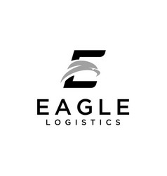 e sign with eagles head vector image