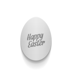 Easter curved paper Egg Banner with Text vector