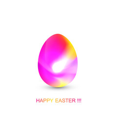 easter egg in geometric style with abstract fluid vector image