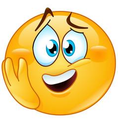 emotional emoticon vector image