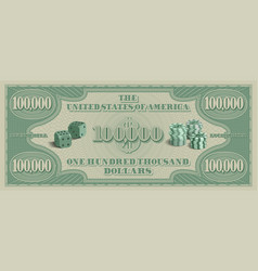 Fictional paper money in denominations us vector
