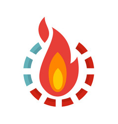 Fire burn calories icon flat style vector