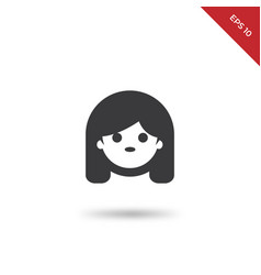 girl face icon vector image