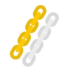 Gold and silver chain icon isolated vector