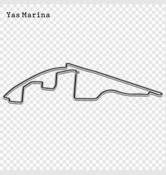 Grand prix race track vector