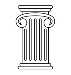 greek pillar icon outline style vector image