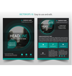 Green black brochure annual report leaflet flyer vector
