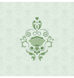 Green classic seamless vector image