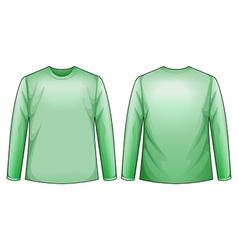 Green shirts vector