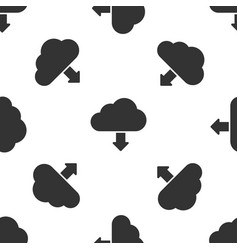 grey cloud download icon isolated seamless pattern vector image