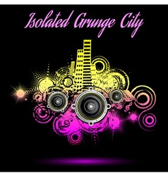 Grunge city background music vector