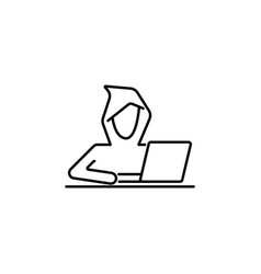 hacker hack icon on white background can be used vector image