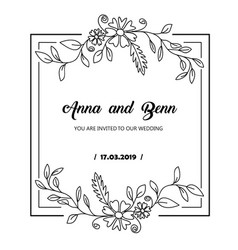hand drawn flower template best for your frame vector image