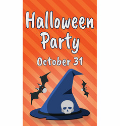 happy halloween party greeting card happy vector image