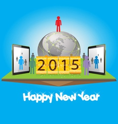 Happy new year with business successful vector