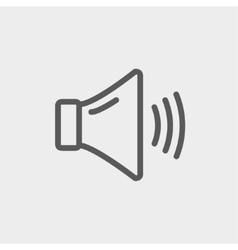 High speaker volume thin line icon vector image