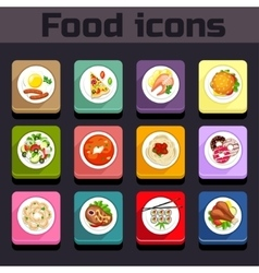 Icons meal plan view vector image