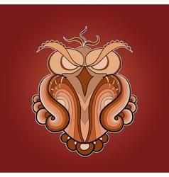 image of predatory owl ocher color vector image