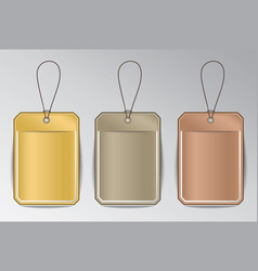 infographic rectangle badges with ropes vector image