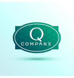 Letter q label logo design for your brand vector