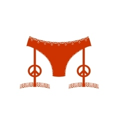 Lingerie icon simple vector