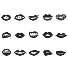 Lips icon vector