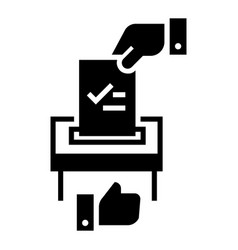 make political choice icon simple style vector image
