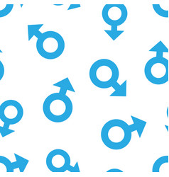 Male sex symbol icon seamless pattern background vector