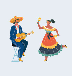 mexican fiesta party vector image