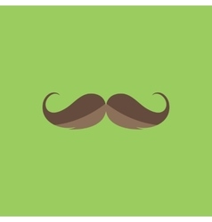 Mustache flat icon vector image