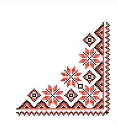 National pattern fabric texture corner vector