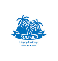 palms summer background vector image