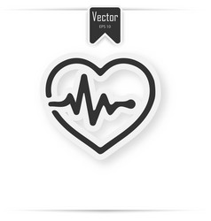 Paper medical heart background concept vector