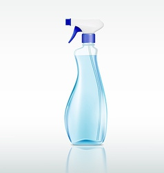plastic spray bottle with cleaning liquid vector image