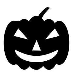 Pumpkin on halloween icon simple style vector