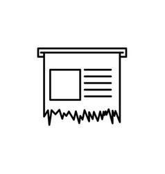 receipt icon vector image