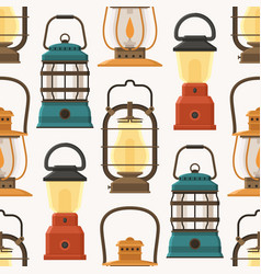 Retro lantern or gas lamp pattern vector