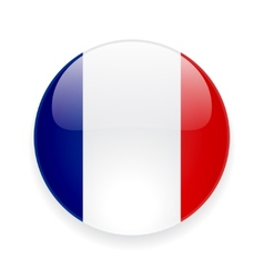 Round icon with flag france vector