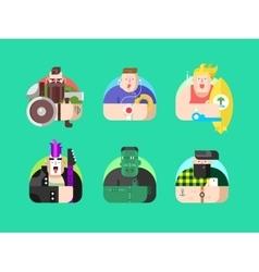 Set avatar design flat vector image