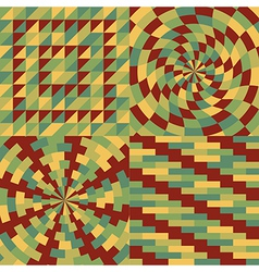 Set of four geometric pattern vector