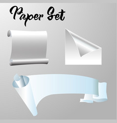 simple paper set for background eps vector image