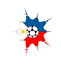 soccer ball on a philippine emblem vector image