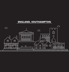 Southampton silhouette skyline great britain vector