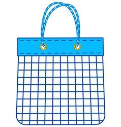 String shopping bag vector