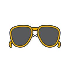 Sunglasses color icon vector