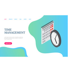 time management website calendar and clock vector image
