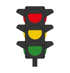 Traffic lights semaphore icon vector